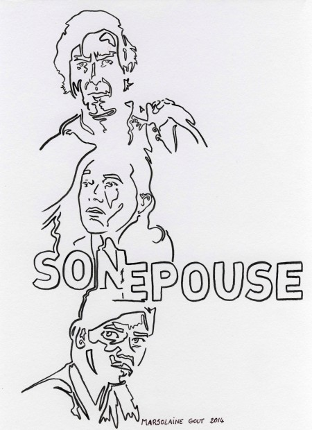 Dessin Son Epouse Marjolaine Gout