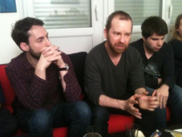 Fabien Alloin, Martin Debat et Nicolas Lemerle concentrés