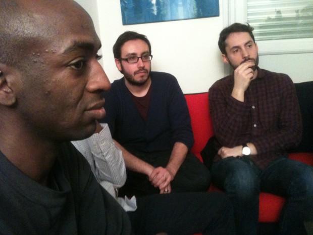 Justin Kwedi, Jérémy Coifman et Fabien Alloin, à l'écoute