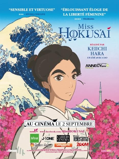Affiche Miss Hokusai