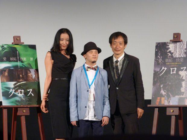 L'actrice Konno Chiharu, le compositeur Kishita Koshi et le réalisateur Okuyama Kazuyoshi